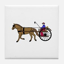 Horse and Buggy Tile Coaster