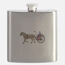 Horse and Buggy Flask
