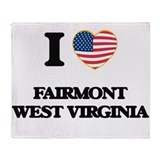 I love west virginia Fleece Blankets