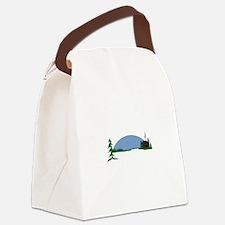 Cabin scene Canvas Lunch Bag