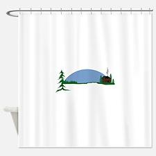 Cabin scene Shower Curtain
