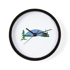 Cabin scene Wall Clock
