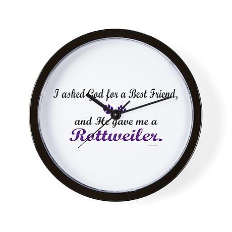 God Gave Me A Rottweiler Wall Clock