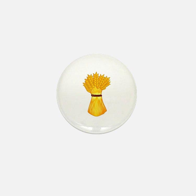 Wheat shock Mini Button