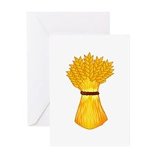 Wheat shock Greeting Cards