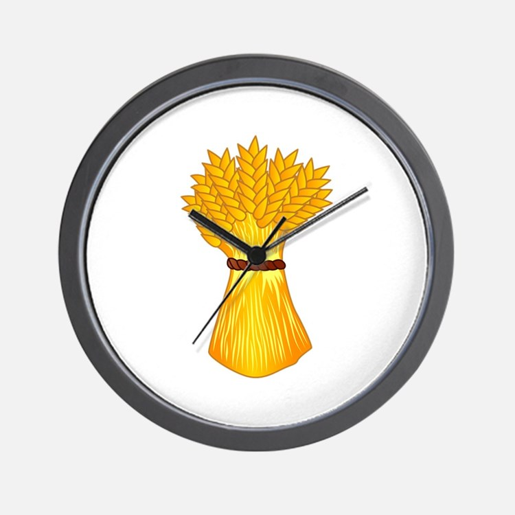 Wheat shock Wall Clock