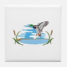 Mallard Scene Tile Coaster