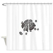 Clay Pigeon Shower Curtain