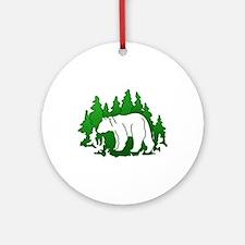 Bear Silhouette Ornament (Round)