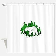 Bear Silhouette Shower Curtain
