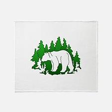 Bear Silhouette Throw Blanket