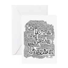Love & Hate Greeting Card