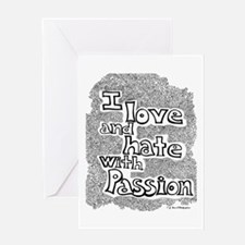 Love & Hate Greeting Card