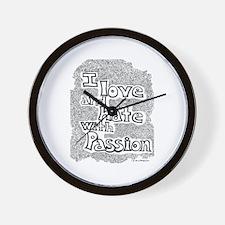 Love & Hate Wall Clock