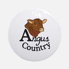Angus Country Ornament (Round)