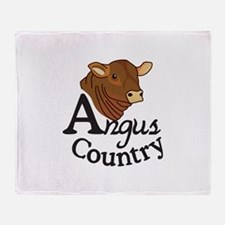 Angus Country Throw Blanket