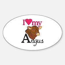 I Love My Angus Decal