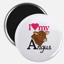 I Love My Angus Magnets