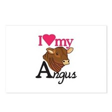 I Love My Angus Postcards (Package of 8)