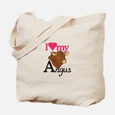 I Love My Angus Tote Bag