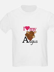 I Love My Angus T-Shirt