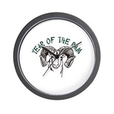 Year of the Ram Wall Clock