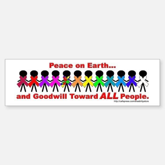 Peace On Earth Bumper Car Car Sticker