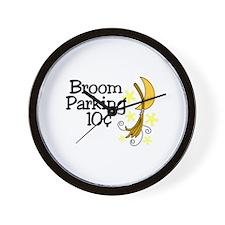 Broom Parking Wall Clock