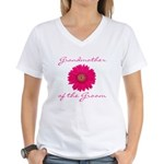 Groom's Grandmother Women's V-Neck T-Shirt