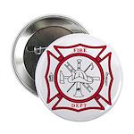 "Fire Department Maltese Cross 2.25"" Button (100 pa"
