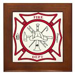 Fire Department Maltese Cross Framed Tile