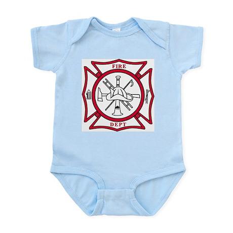 Fire Department Maltese Cross Infant Bodysuit