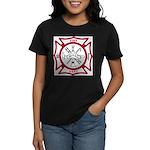 Fire Department Maltese Cross Women's Dark T-Shirt