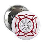 """Fire Department Maltese Cross 2.25"""" Button (10 pac"""