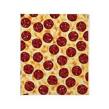 Pepperoni Pizza Pattern Throw Blanket