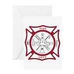 Fire Department Maltese Cross Greeting Card