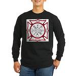 Fire Department Maltese Cross Long Sleeve Dark T-S