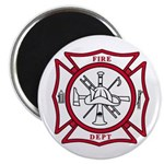 "Fire Department Maltese Cross 2.25"" Magnet (100 pa"