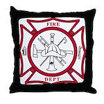 Fire Department Maltese Cross Throw Pillow