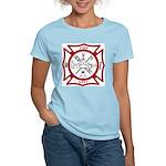 Fire Department Maltese Cross Women's Light T-Shir