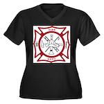 Fire Department Maltese Cross Women's Plus Size V-