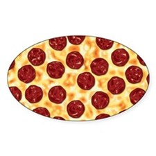 Pepperoni Pizza Pattern Decal