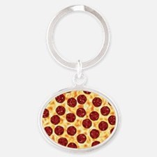 Pepperoni Pizza Pattern Keychains
