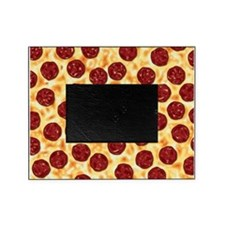 Pepperoni Pizza Pattern Picture Frame