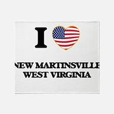 I love New Martinsville West Virgini Throw Blanket