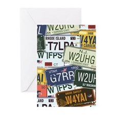 Vintage License Plates Greeting Cards