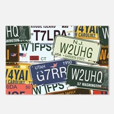 Vintage License Plates Postcards (Package of 8)