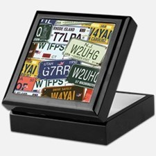 Vintage License Plates Keepsake Box