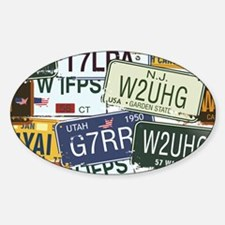 Vintage License Plates Decal