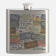 Vintage License Plates Flask